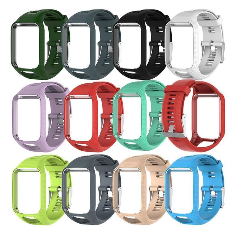 Ersatz New Silikon-Uhrenarmband für Tom Tom 2 3er-Uhrenarmband-Handgelenk-Band-Bügel für TomTom Runner 2 3 GPS-Uhr