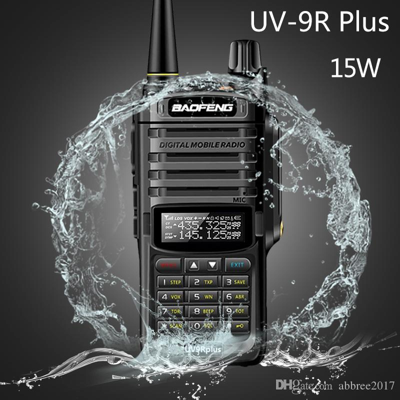 2020 Baofeng 15W Waterproof Walkie Talkie High Power CB Ham 20KM Long Range UV9R Radio Way portátil Dois para a caça UV9R mais