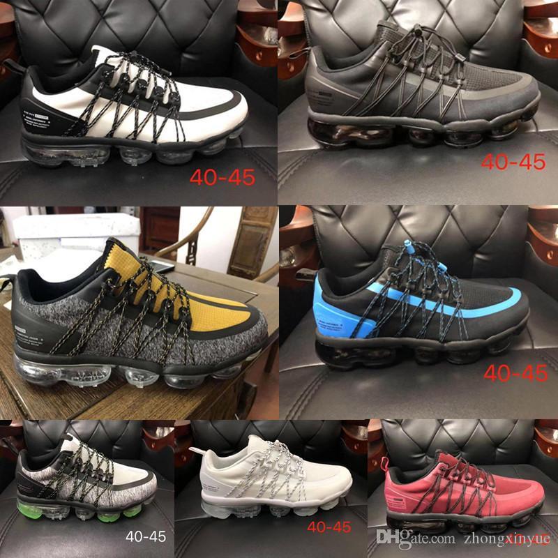 Remise Noir Argent 028 Gris Vert Triple Noir Triple Blanc Gris Orange Rouge Or Hommes Baskets Jogging Run Casual Chaussures livraison gratuite