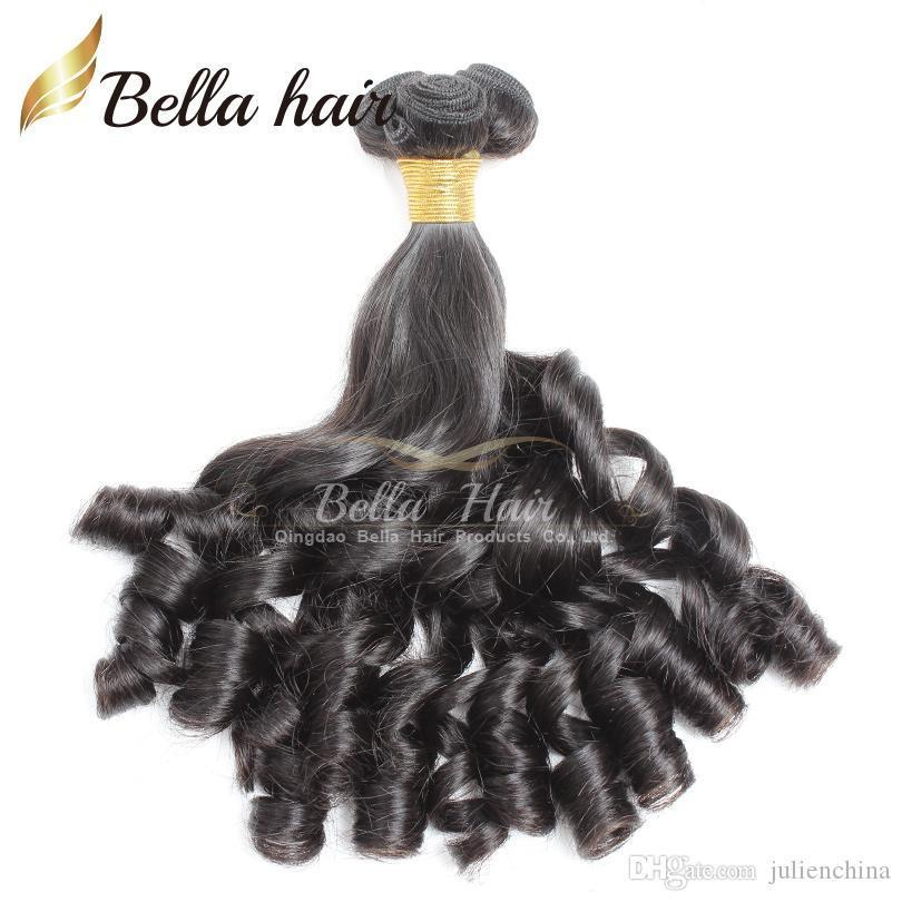 Bella Hair? 8A Funmi Baby Curly Peruvian Hair Spring Curl Loose Wave Natural Black Hair Extension Unprocessed Hair Weft Free Shipping