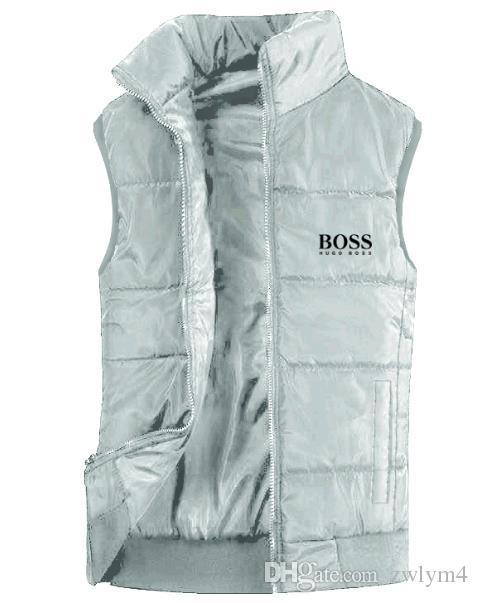 새로운 남성 자켓 민소매 조끼 남성의 얼굴 겨울 패션 캐주얼 코트 남성 다운 남성의 양복 조끼