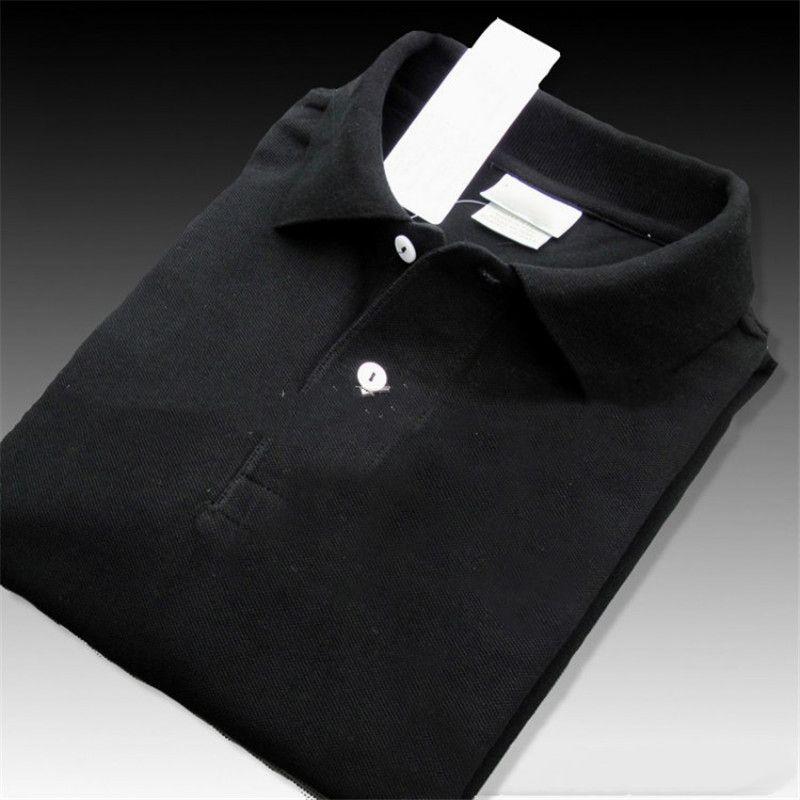 Erkekler Giyim Toptan Lüks Tasarımcı Yaz Polo Shirt Erkekler High Street Giyim Tişört İşlemeli Polo tişörtler Katı Renk Tops