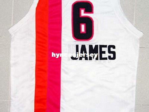 promo code 97845 73e3a 2019 Cheap Mens White LEBRON JAMES MIAMI FLORIDIANS RETRO JERSEY WHITE NEW  ANY SIZE XS 5XL Retro Basketball Jerseys NCAA College From Hyncaajersey, ...