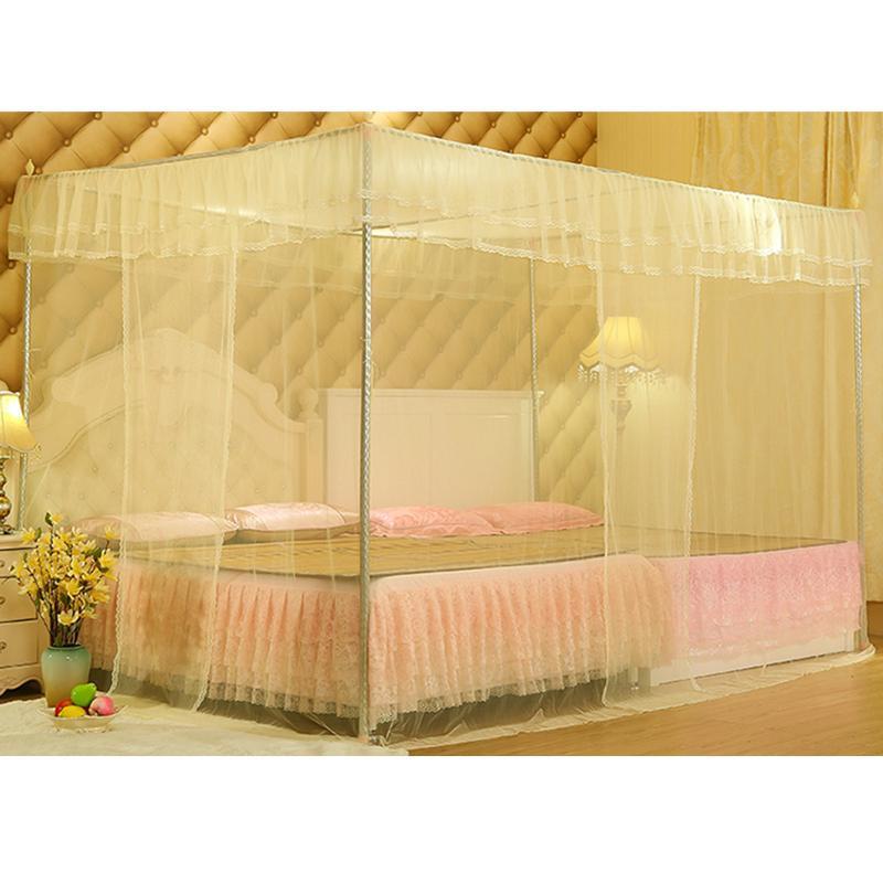 Romântico Princesa Canopy Mosquito Net No Frame Fit For gêmeo completa Rainha Rei Net Bed