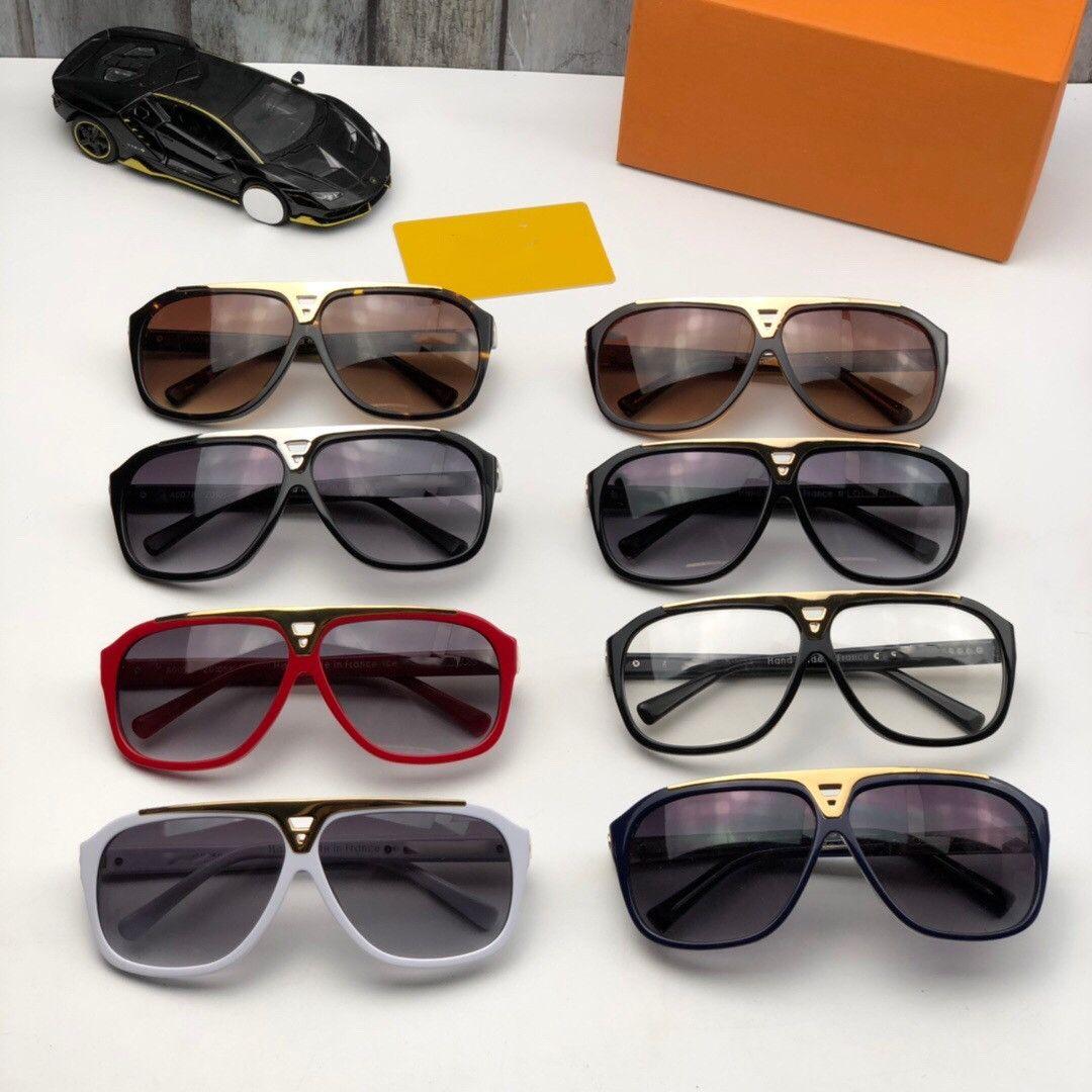 Evidence Luxus-Millionärs-Sonnenbrille Retro Vintage Männer Designer-Sonnenbrillen Glänzende Gold Sommer-Art-Laser-Gold überzogen Z1135W