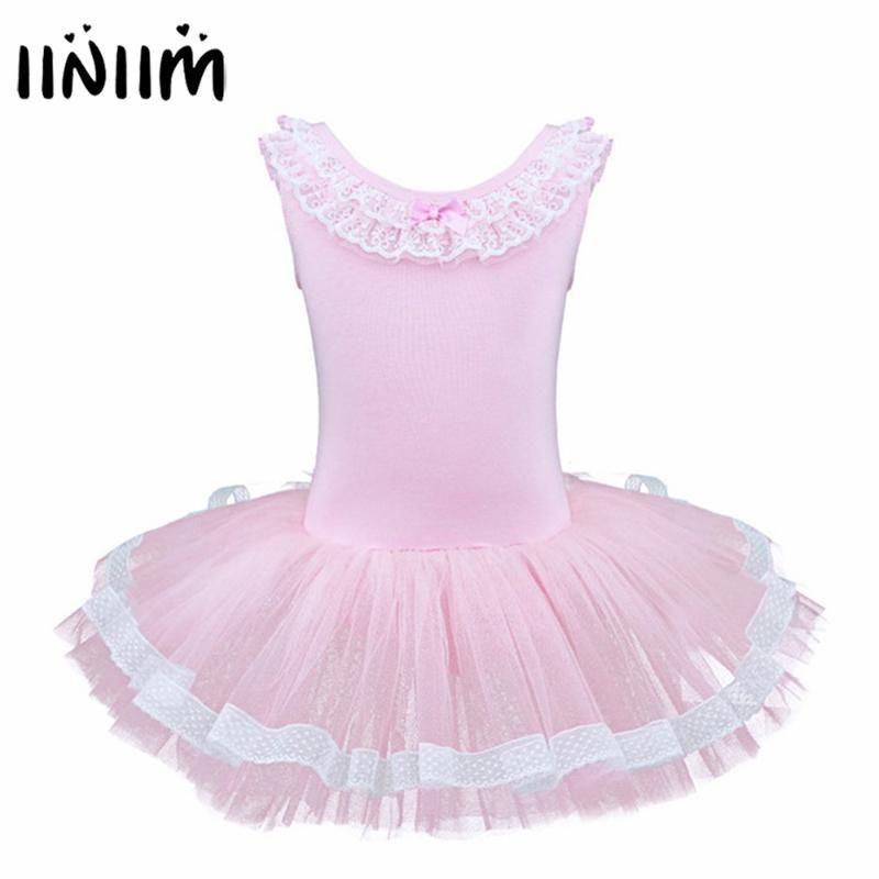 Girls Kids Tutu Ballet Leotard Dance Dress Ballerina Dancewear Costume Size 3-12