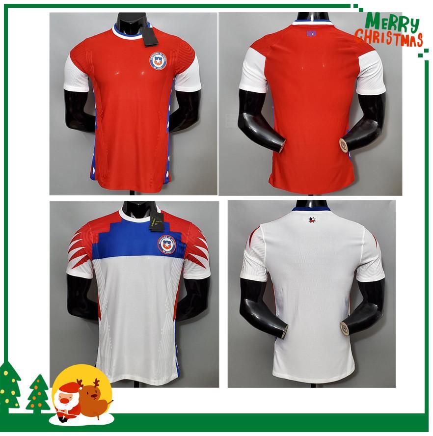플레이어 버전 칠레 20 21 홈 축구 유니폼 2020 2021 축구 셔츠