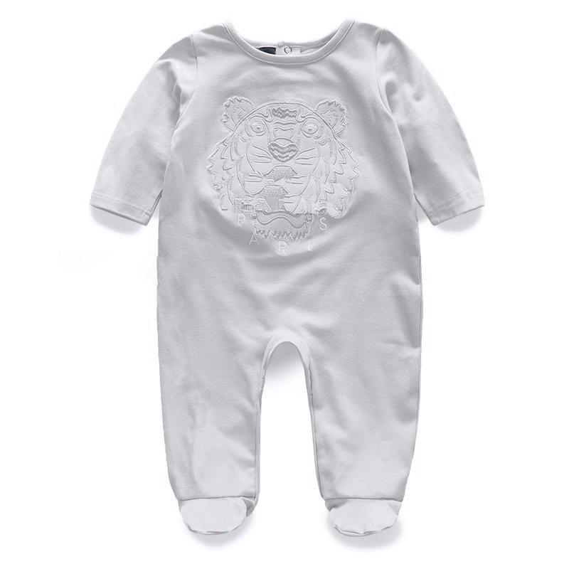 Einzelhandel 3 Farben neugeborenes Baby-gestrickte Stickerei-Baumwollspielanzug 0-2J Strampler Toddle Bodysuit Kinder einteilige Strampler Jumpsuits Kletterkleidung