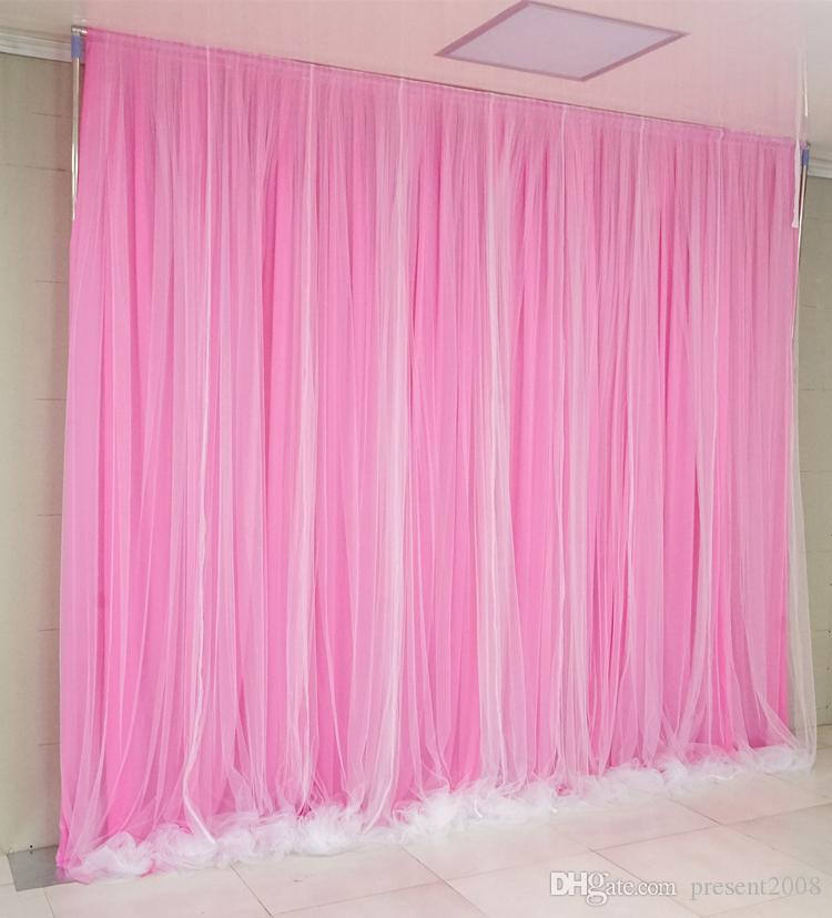 3X6M Simple blanco hielo seda telón de fondo de la boda fiesta de evento cortina de la cortina para el banquete de boda decoración del hogar fondo