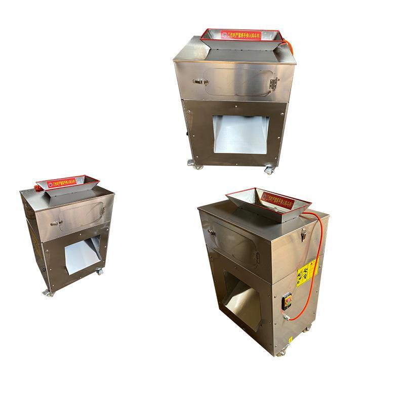 CE de alta calidad de acero inoxidable máquina de cortar carne comercial eléctrico máquina de cortar carne en dados máquina picadora de carne máquina automática de corte en dados