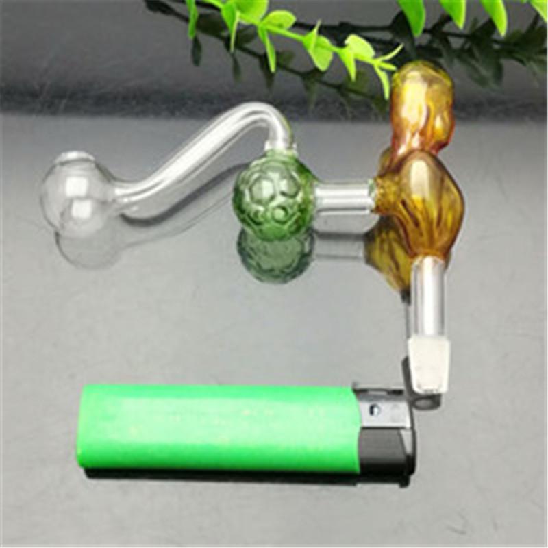 Caldera clásica belleza de cristal coloreado del fútbol Gran vidrio Pyrex hornilla de aceite de tubo grueso plataformas petroleras tubería de agua de cristal