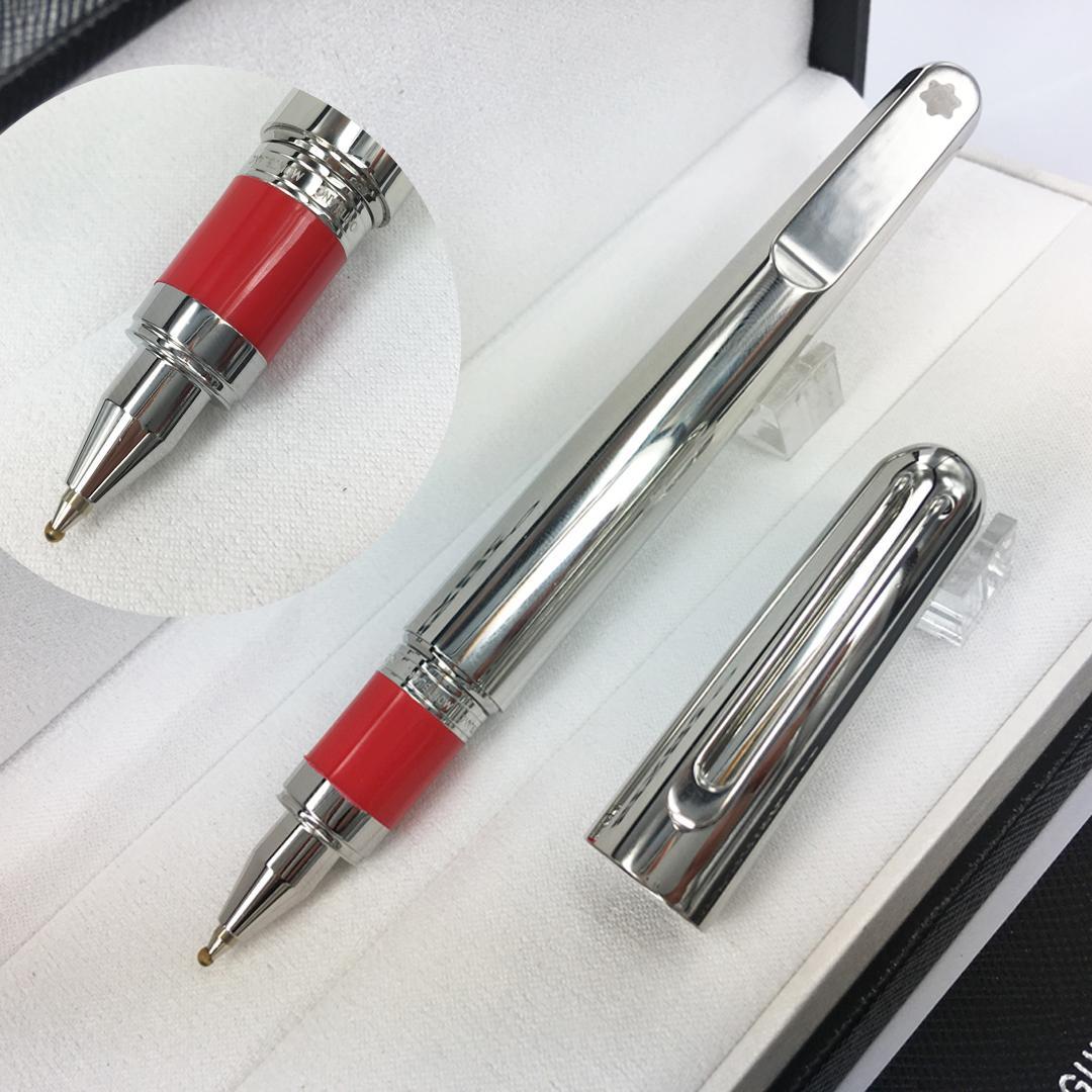 2020 MB Nueva Pluma Edición limitada pluma de lujo plata de acero inoxidable lápiz magnético M casquillo roller hace