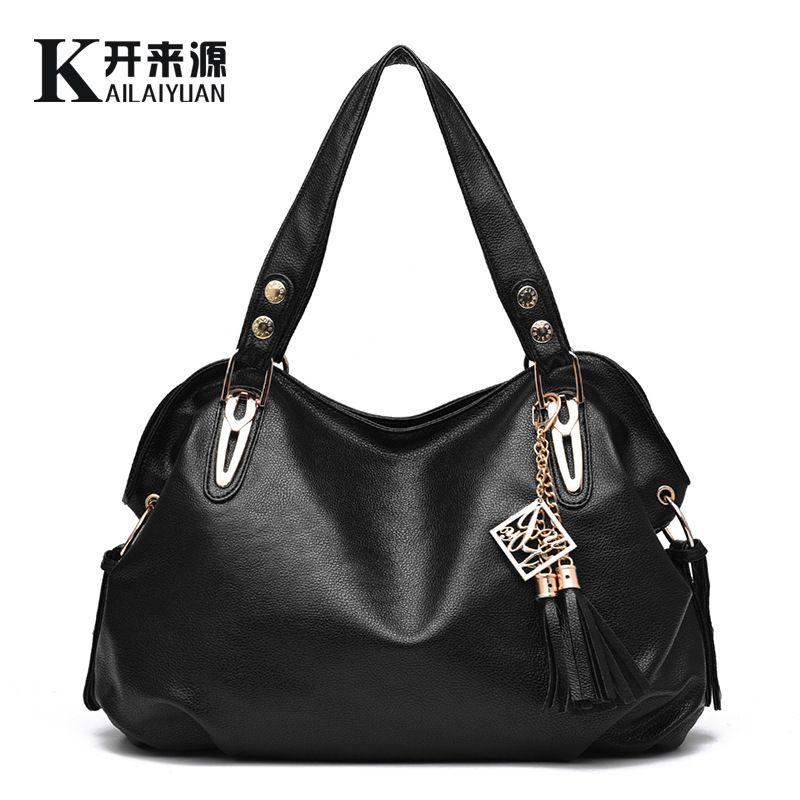 Kadın casualeather çanta yüksek kapasiteli deri çanta takım elbise kılıf omuz çantaları saf renk deri çanta