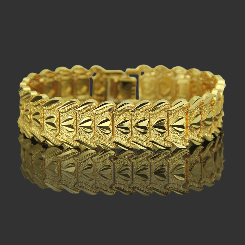 Domineering Mens Gold Texture Bracelet Bracelet Accessories