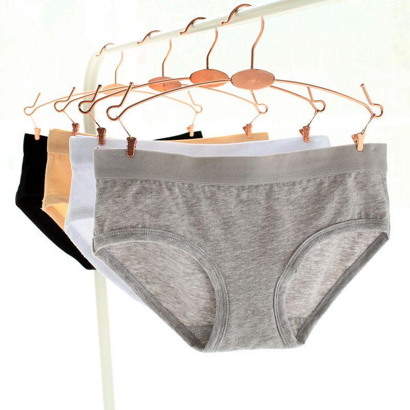 Moda Pure Cotton Calcinha das Mulheres Underwear Sexy Cuecas de Algodão Natural