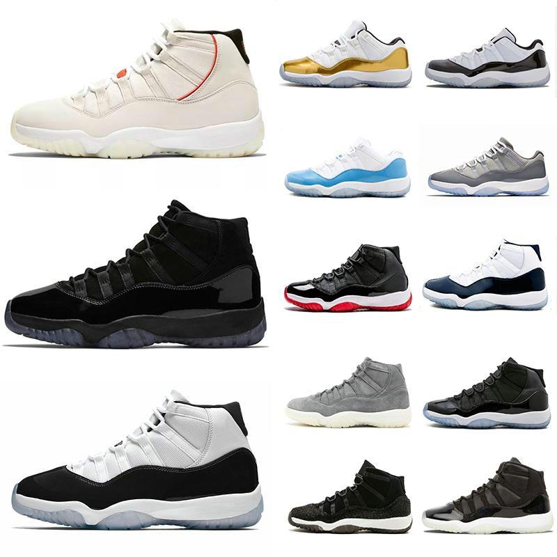 WMNS 11 الابيض ولدت جلد الثعبان البحرية أورانج الغيبوبة 11S 2020 أحذية كرة السلة ولدت كونكورد منخفضة الرياضية حذاء حجم 7-13 مع صندوق رخيصة الثمن