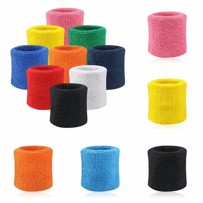 Hot Sport Sweatband Hand Band Sweat Wrist Support Brace Wraps Guards For Gym
