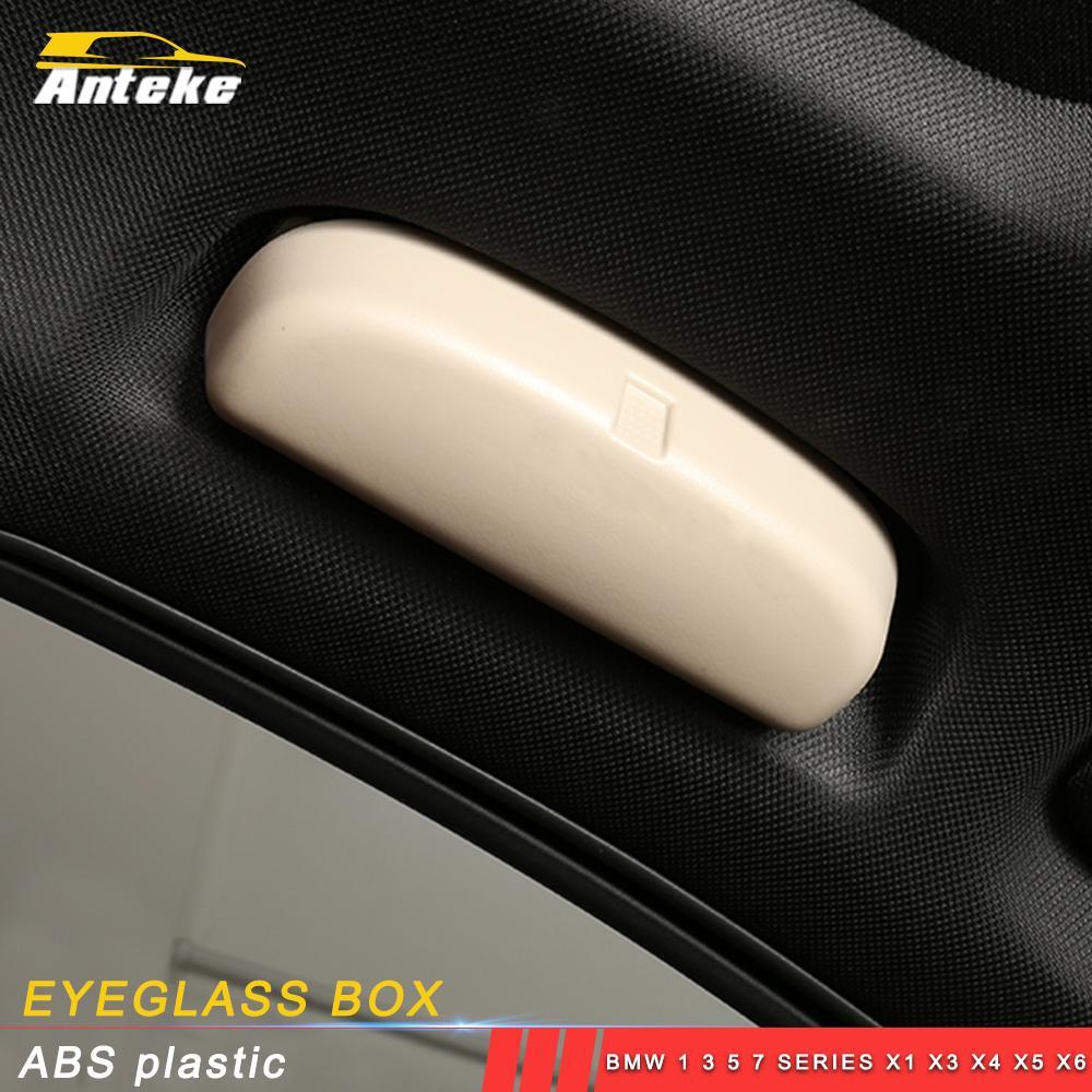 Accesorios para el coche asiento del conductor cuadro titular de la caja del organizador ojo de cristal de gafas de sol Monte Recorte para BMW 1 3 5 7 Serie X1 X3 X4 X5 X6