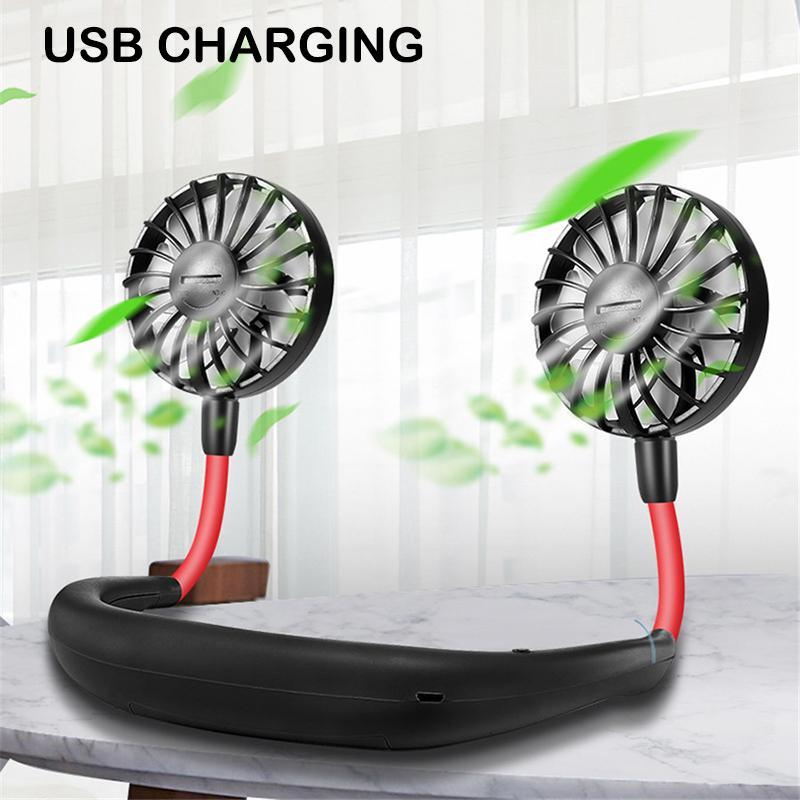 Air Cooler Handheld Mini Fan USB Portable Fan Large Wind 4 Gear Adjustable Dormitory Office Desktop Car Hand Fan Color : Green