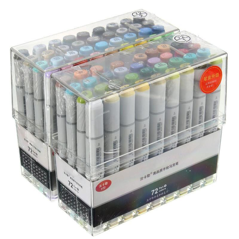 72pcs cores Artista Copic Sketch Markers Set Fine Nibs Twin Tip Board Pen Design Marcador De Design Para Desenho Arte Set