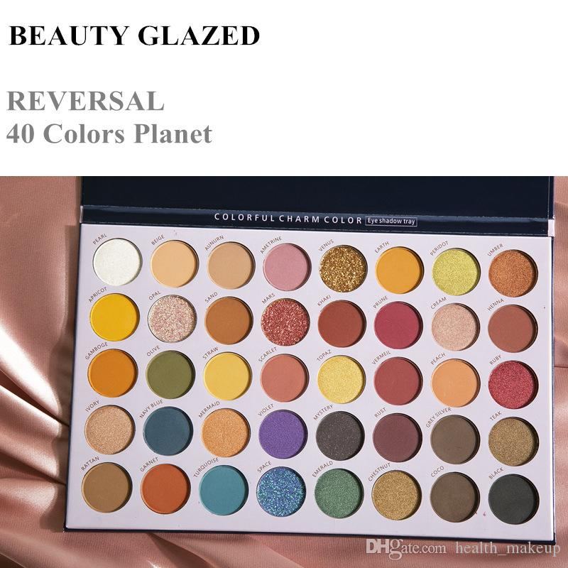makeup Beauty Glazed Eye Shadow Palette Reversal Planet 40 Colors Eyeshadow Glitter shimmer matte makeup eyeshadow palette Brand Cosmetics