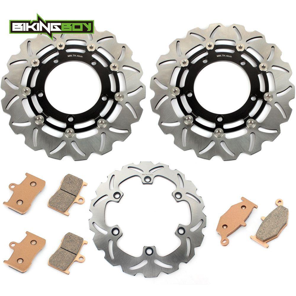 BIKINGBOY Front Rear Brake Discs Disks Rotors + Pads for GSX 1300 B-King 2008 2009 BK 08 09 K8 K9 GSX1300 Full Set