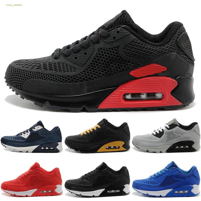 Nike air max 90 KPU Haute Qualité 2020 New Coussin Air Casual Chaussures de course Hommes Femmes pas cher Chaussures Rouge Noir Blanc Classique KPU Entraîneur Chaussures de sport