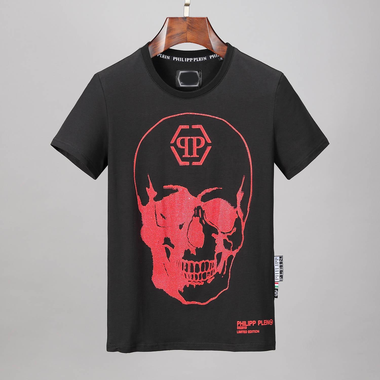 marchi Maschio Phillip Plain T Shirt manica corta ultimo casuale G del cranio di modo medusa Uomini 3D serpente CANE Lettera polo T Shirt Tops