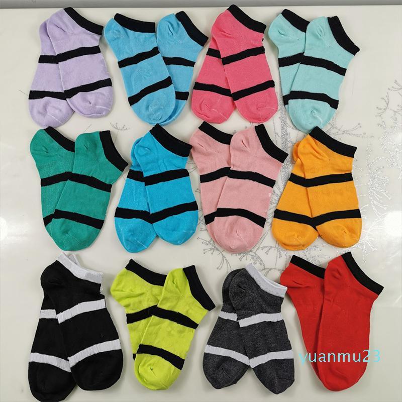 도매 - 핑크 블랙 소년 소녀 짧은 양말 치어 리더 농구 야외 스포츠 남여 성인 발목 양말 무료 크기 multicolors에서