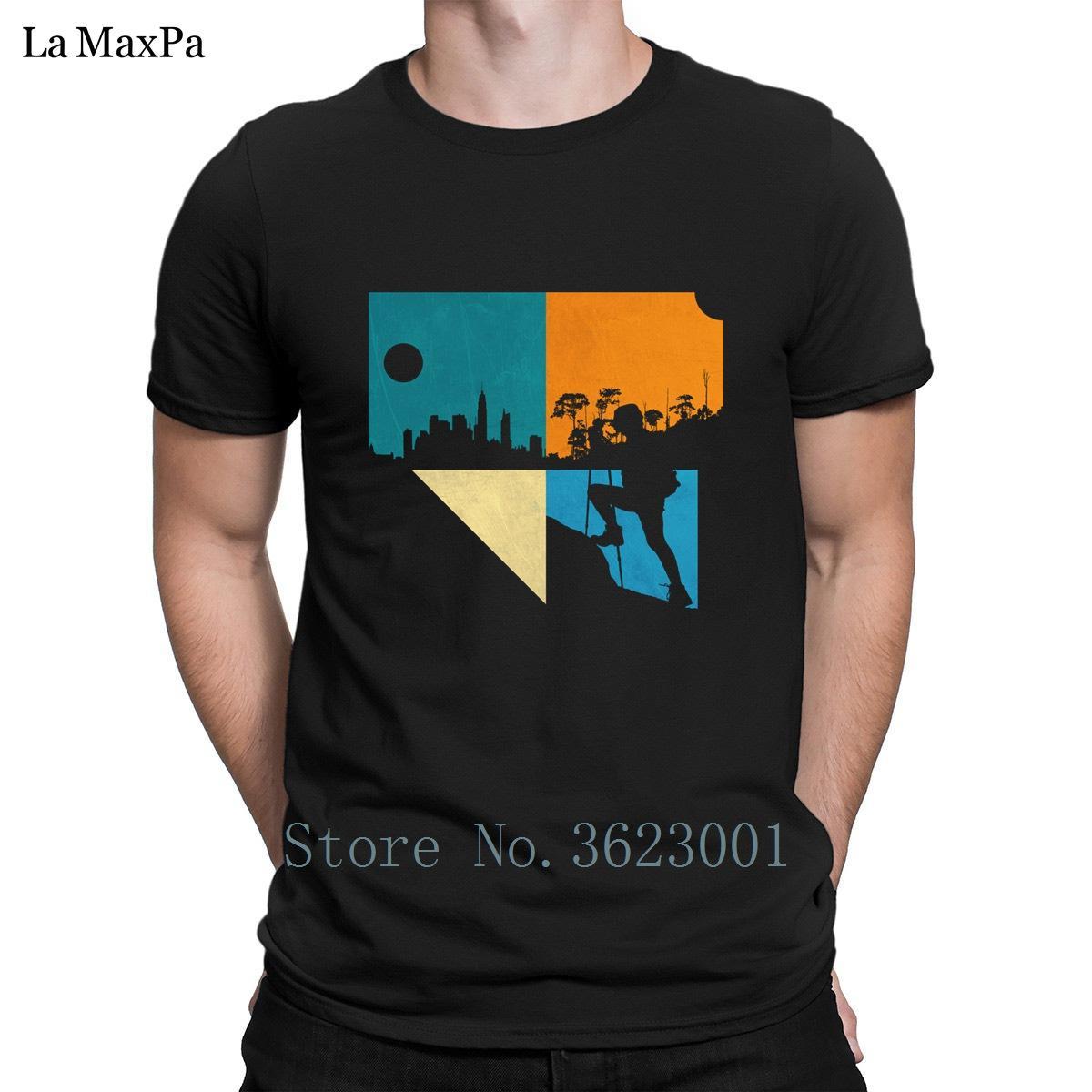 Funky T Shirt T-shirt Creatura Fun Tshirt Mens Questa è la mia avventura Tee Shirt Basic Solid Uomo In vendita Men S-3XL Cheap
