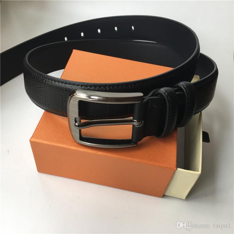 أحزمة الرجال عالية الجودة حزام حقيقي الذهب والفضة الأسود مشبك حزام المرأة حزام أحمر أسود براون