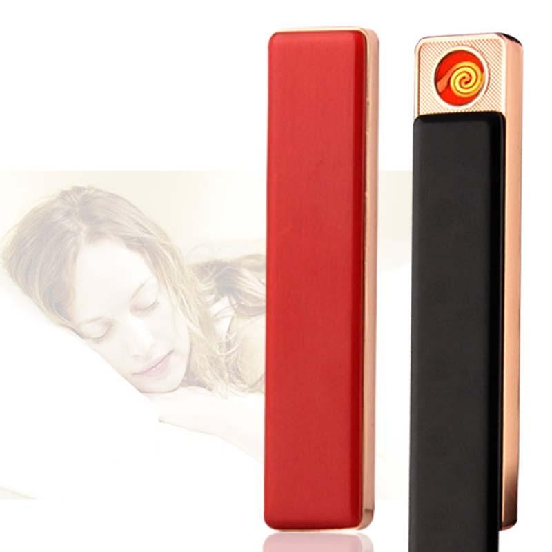 라이터 BH3005 TQQ 흡연 라이터 슬림 미니 휴대용 충전식 라이터의 USB 담배 라이터 남성 여성 방풍 충전 금속 USB