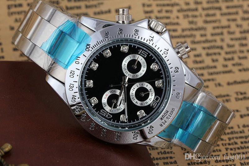 Mécanique en acier inoxydable de mouvement automatique de montres en acier inoxydable de luxe de nouveaux hommes de la mode de luxe Top Hommes montres à remontage automatique Montres-bracelets