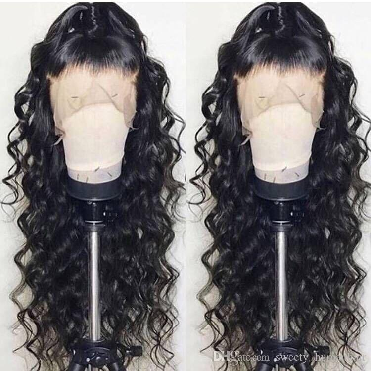 Brazilian Wet and Wavy Full Lace Wigs For Black Women Glueless Natural Water Wave Lace Front Wigs With Baby Hair Loose Curly Wig