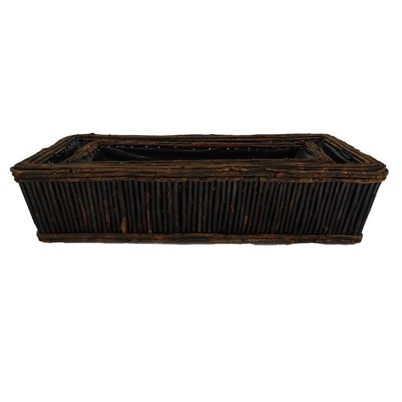 MH20010 usine Fournitures bois contenant pot de saule fleur pour entrée de graines de jardin