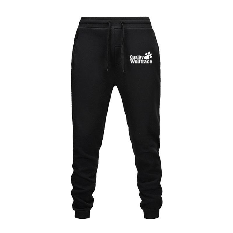 Pantolon Koşu Sonbahar ve Kış Erkek Pantolon Spor Pantolon Kurt İz Moda Desen Baskı Tasarımı Casual Butik Spor