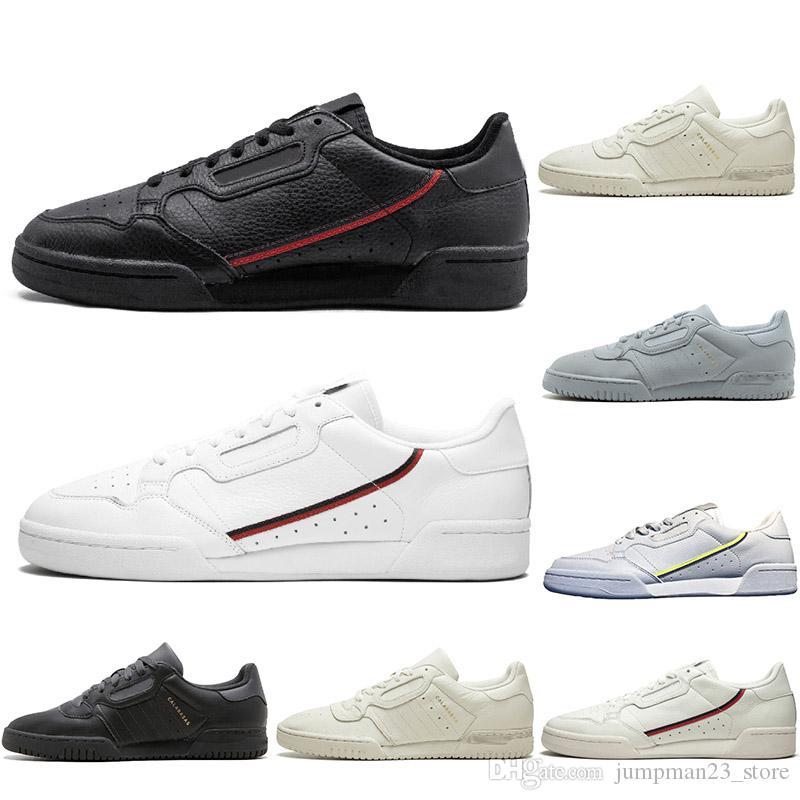 Kanye west Calabasas Powerphase Grey Continental 80 Chaussures de sport des années 80 Aero blue Core noir OG blanc Hommes femmes Trainer Sports Sneakers 36-45