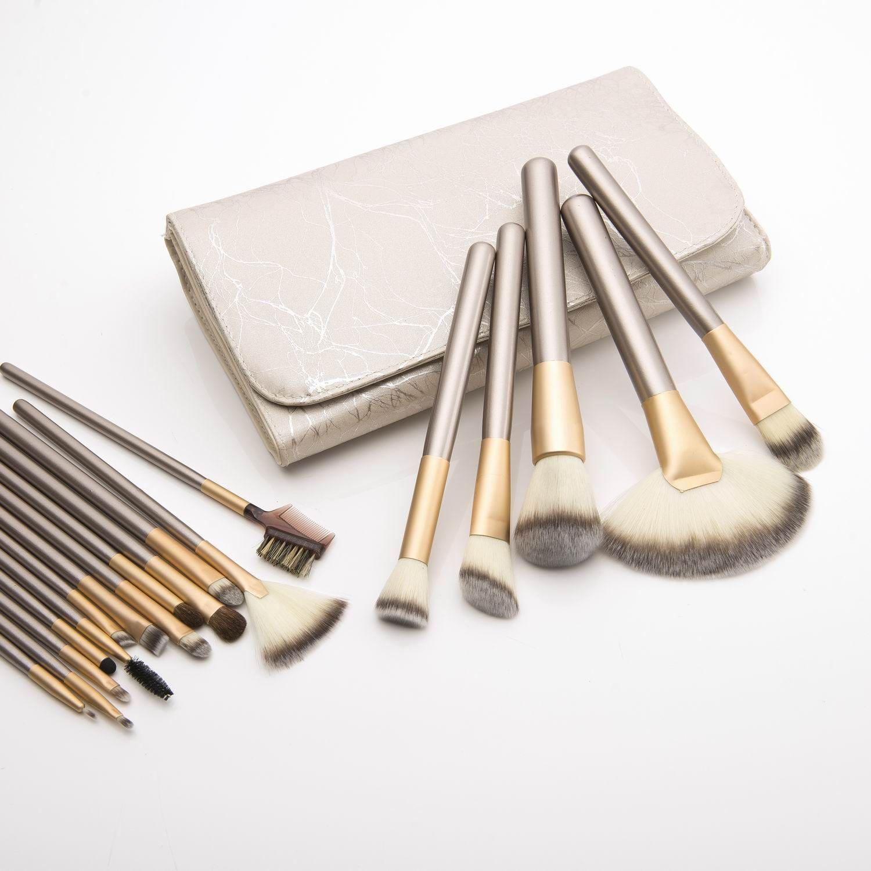 22pcs Мода косметический набор кистей комплекты с ИХР сумка для лица Пудра для бровей Кисть Eyeshadow Кисти Полный макияж кисти инструменты