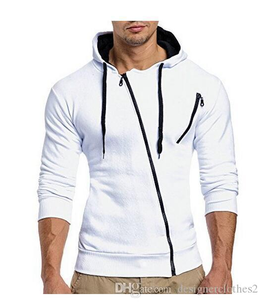 Moda Kapşonlu Fermuar Ceket Casual Kaban Sonbahar ve Kış Yuvarlak Yaka Kapşonlu Uzun Kollu Sıcak Spor Coat