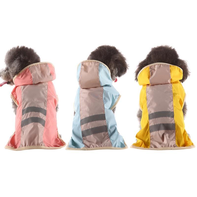Summer Pet Dog Outdoor Raincoat Puppy Hoody Waterproof Rain Coat S-XL Jackets Rainwear For Dogs Cats Apparel Clothes