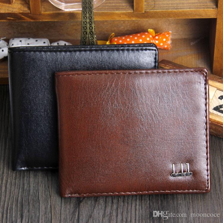 Herren Günstige 501 Mann PU-Leder-Haspe Kupplungs-Mappen-Geschäfts-Kreditkarte-Halter-Taschen Brieftasche Mann Handtasche 8 Styles