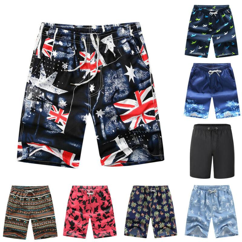 Mens Beach Swim Trunks Merry Christmas Tree with Gold Star Boxer Swimsuit Underwear Board Shorts with Pocket