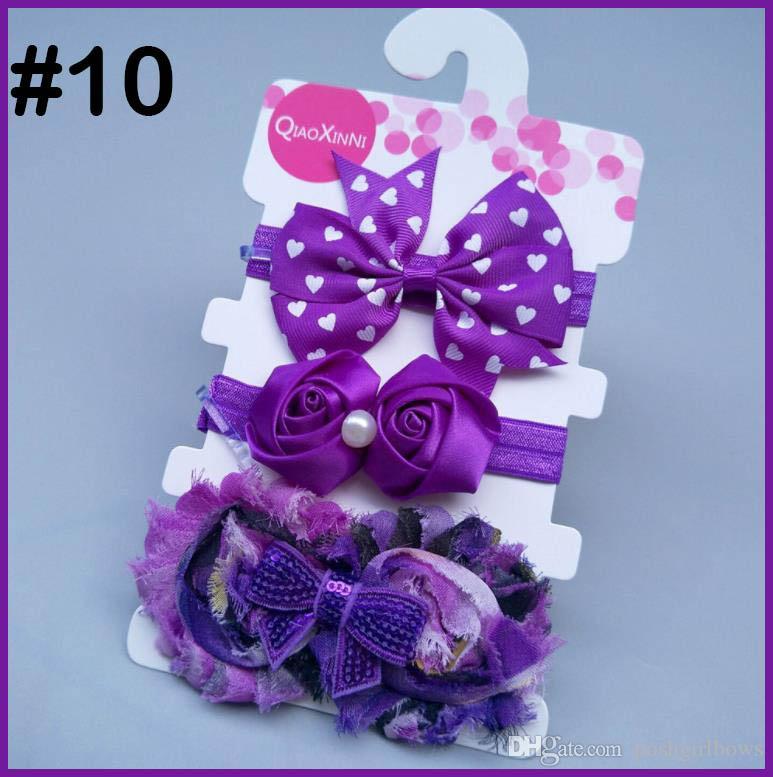 free shipping 50set girl baby headbands flower fashion girl accessories big shabby chic headband