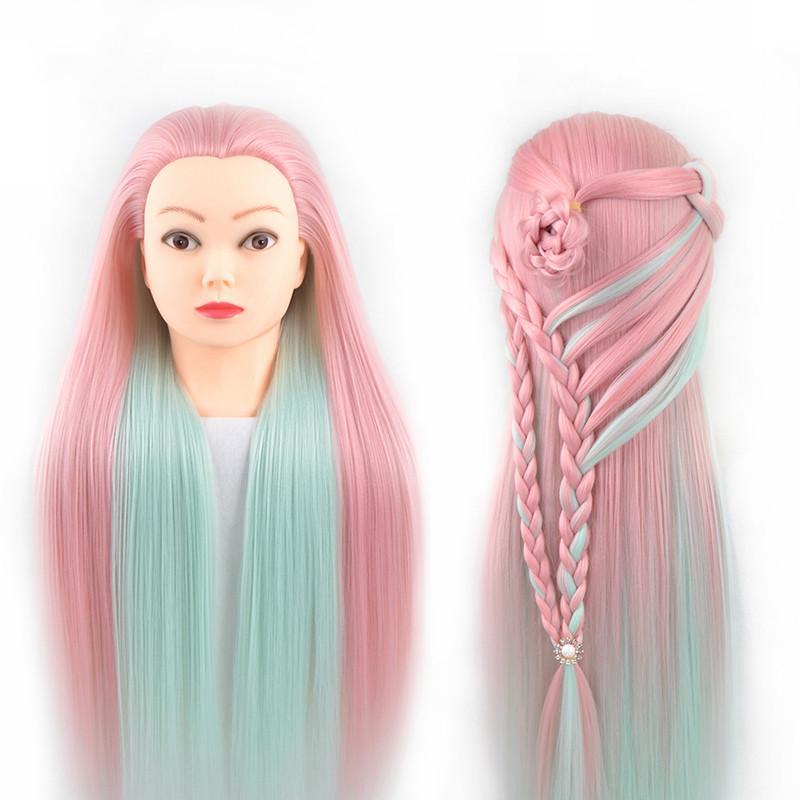 cabezas de formación profesional con pelos largos y gruesos practican peluquería tete muñecas maniquí Estilismo maniqui en venta
