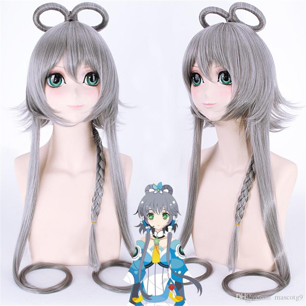 Fate/stay night Fate/Grand Order Saber wig Cosplay Gray wig Cosplay Halloween Luo Tianyi wig for women