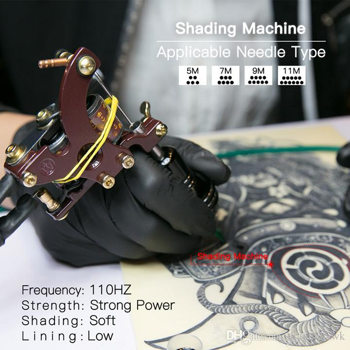 Dragonhawk Shader Tattoo Gun Professional Coloring Tattoo Machine Copper Coil Alloy Frame 4148