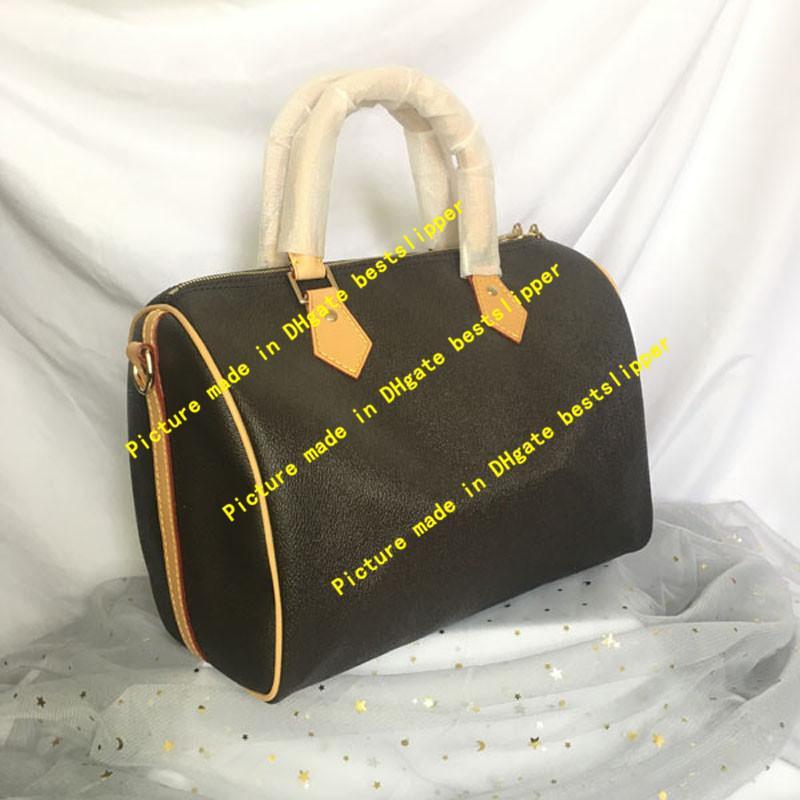 Deri Çapraz Vücut Hızlı Omuz Çantaları Boston Tote Hakiki M41111 Yastık Hobo CM Klasik Çanta Çanta Kadın Çanta 41111 25 30 35 Fashi XQIN