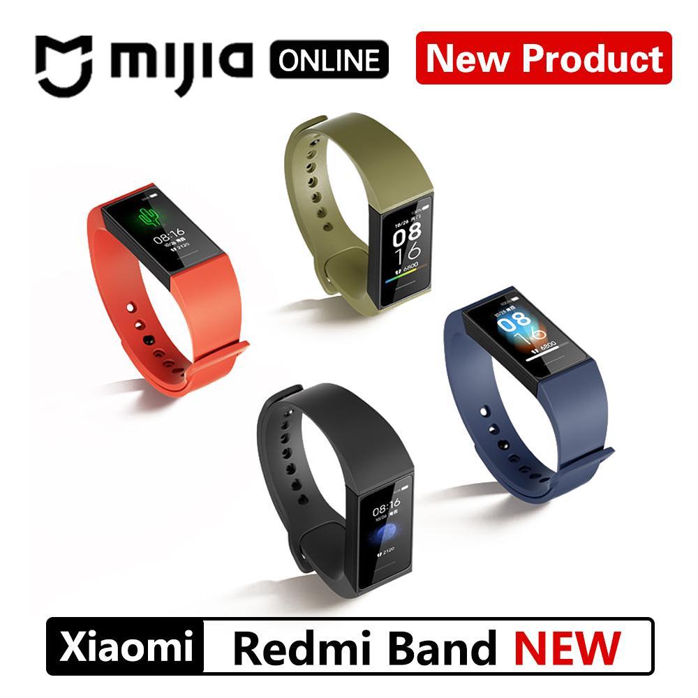 Xiaomi redmi Banda 4 inteligente Heart Rate Academia Esporte Rastreador Bluetooth 5.0 Waterproof Pulseira Toque Grande Pulseira tela colorida