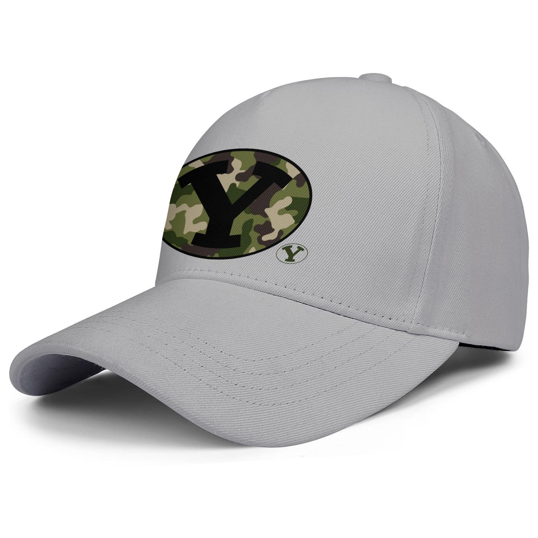 Moda BYU Cougars Brigham Young calcio d'Oro logo Unisex Baseball Cap Golf squadra Trucke berretti Nero Camouflage Logo serie backball