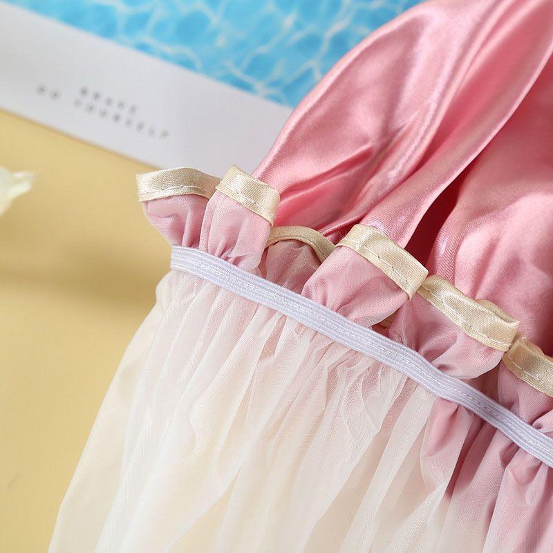 Cuffie per la doccia spesse belle donne variopinte Double Layer Bagno Doccia coprire i capelli adulti del cappello il bagno impermeabile moda comoda